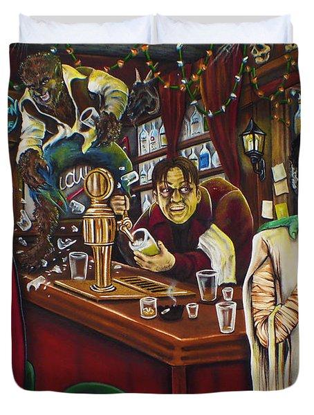 Monster Bar By Mike Vanderhoof Duvet Cover