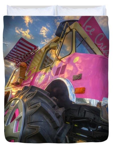 Monster Ice Cream Truck Duvet Cover