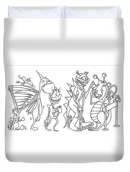 Monster  Queue Duvet Cover