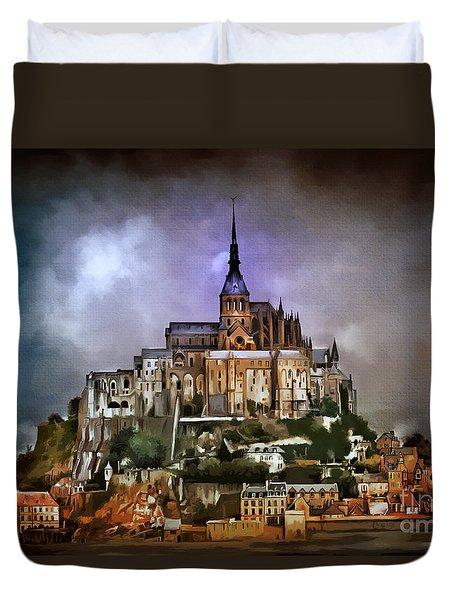 Mont Saint Michel   Duvet Cover by Andrzej Szczerski