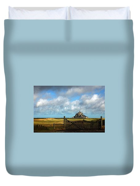 Mont Saint-michel Duvet Cover