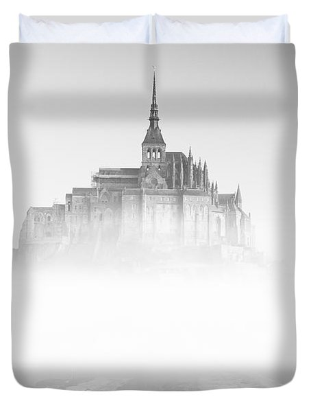 Mont Saint-michel Duvet Cover by Sebastian Musial