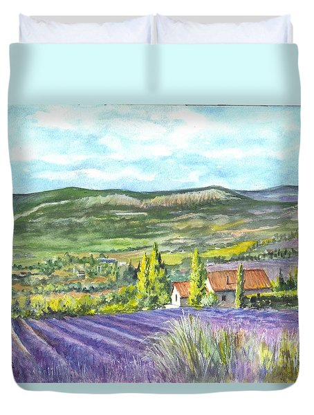 Montagne De Lure En Provence Duvet Cover by Carol Wisniewski