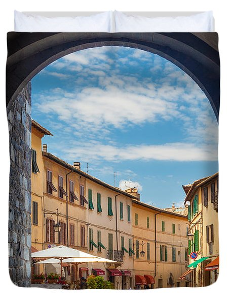 Montalcino Loggia Duvet Cover by Inge Johnsson