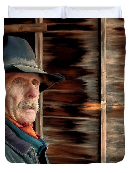 Montana Cowboy Duvet Cover by Michael Pickett