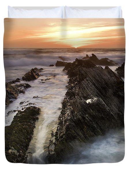 Montana De Oro Sunset 1 Duvet Cover
