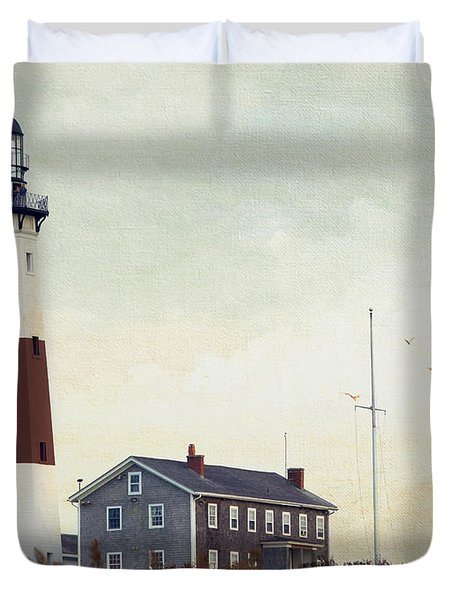 Duvet Cover featuring the photograph Montauk Dusk by Keith Armstrong
