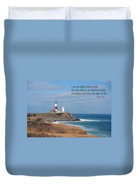 Montauk Lighthouse/camp Hero/inspirational Duvet Cover