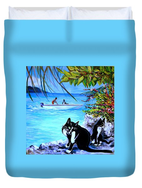 Montego Bay. Part One Duvet Cover by Anna  Duyunova