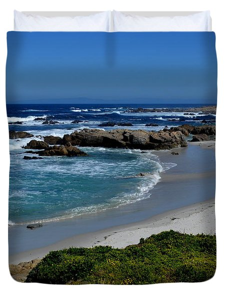 Duvet Cover featuring the photograph Monterey-1 by Dean Ferreira