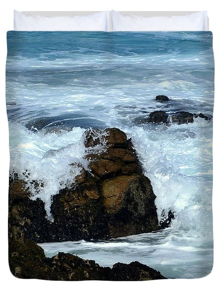 Duvet Cover featuring the photograph Monterey-2 by Dean Ferreira