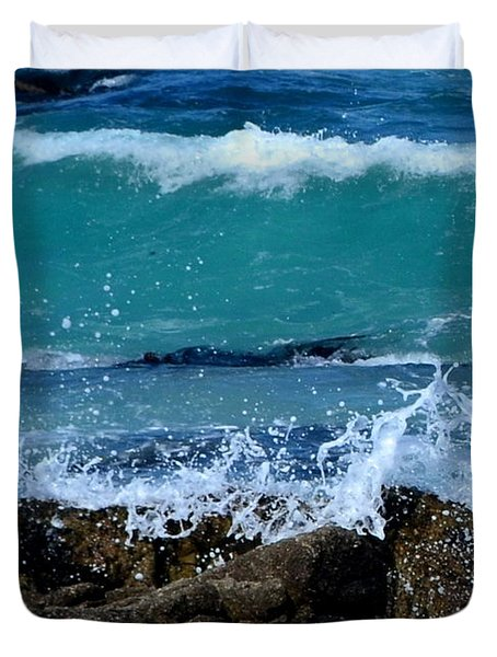 Duvet Cover featuring the photograph Monterey-3 by Dean Ferreira