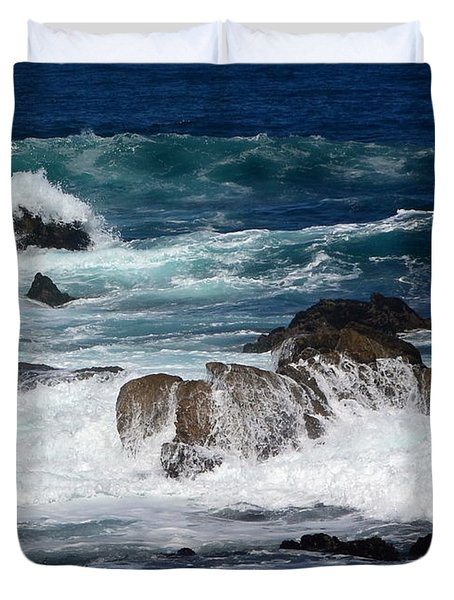 Duvet Cover featuring the photograph Monterey-6 by Dean Ferreira