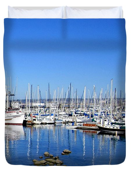 Duvet Cover featuring the photograph Monterey-7 by Dean Ferreira