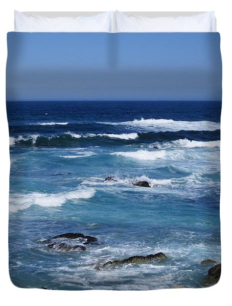 Duvet Cover featuring the photograph Monterey-9 by Dean Ferreira