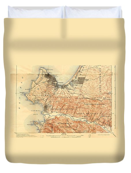 Monterey And Carmel Valley  Monterey Peninsula California  1912 Duvet Cover