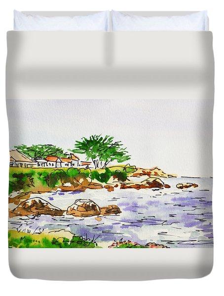 Monterey- California Sketchbook Project Duvet Cover