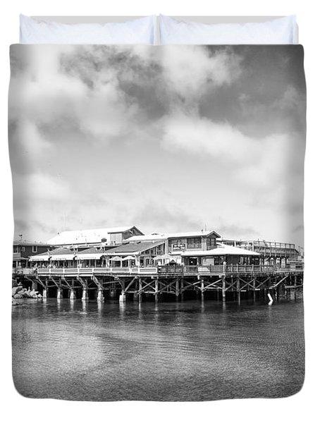Monterey Old Fisherman's Wharf Duvet Cover