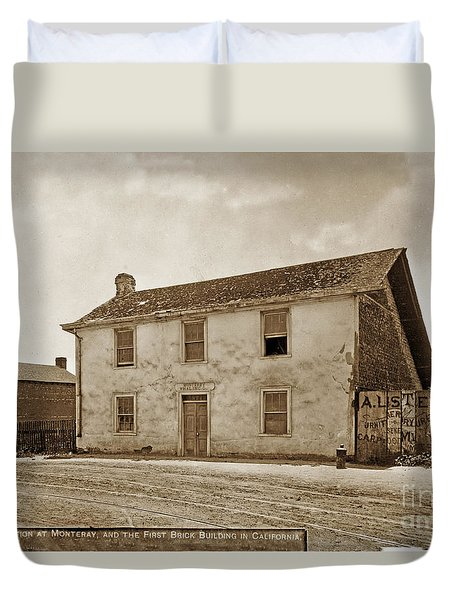 Monterey Whaling Station Circa 1895 Duvet Cover by California Views Mr Pat Hathaway Archives