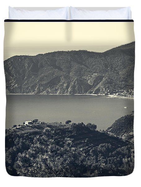 Monterosso Al Mare From Above Duvet Cover