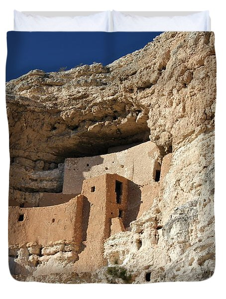 Duvet Cover featuring the photograph Montezuma Castle by Penny Meyers