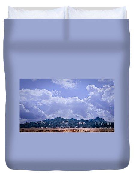 Montezuma County Landmark Duvet Cover by Janice Rae Pariza
