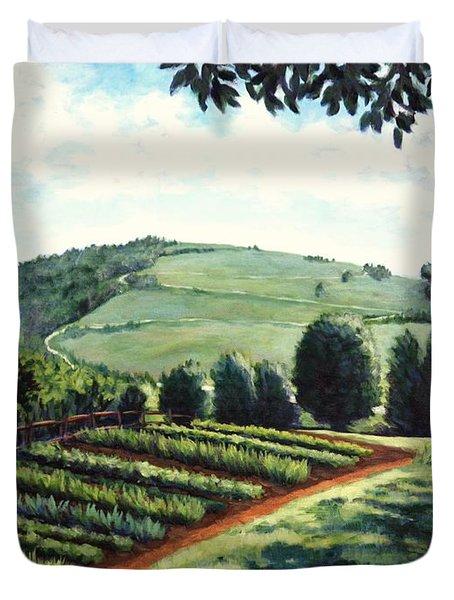 Monticello Vegetable Garden Duvet Cover