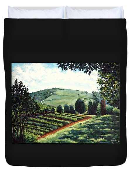Monticello Vegetable Garden Duvet Cover by Penny Birch-Williams