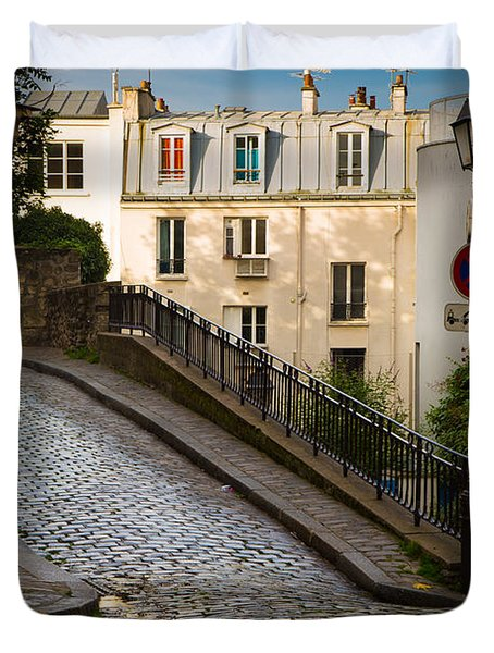 Montmartre Alley Duvet Cover by Inge Johnsson