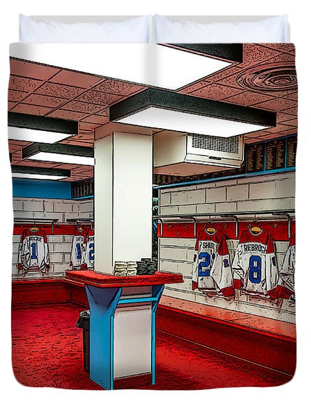 Montreal Canadians Hall Of Fame Locker Room Duvet Cover