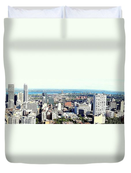 Montreal City View From Mont Royal Duvet Cover by Lingfai Leung