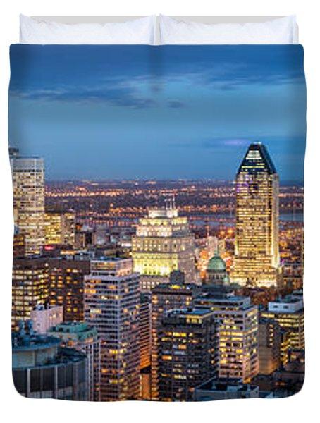 Montreal Panorama Duvet Cover