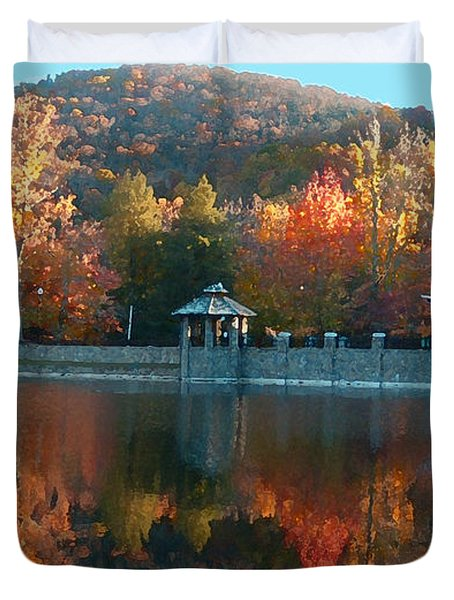 Montreat Autumn Duvet Cover by Lydia Holly