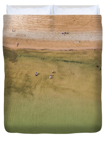 Montrose Beach Dog Park Duvet Cover by Adam Romanowicz