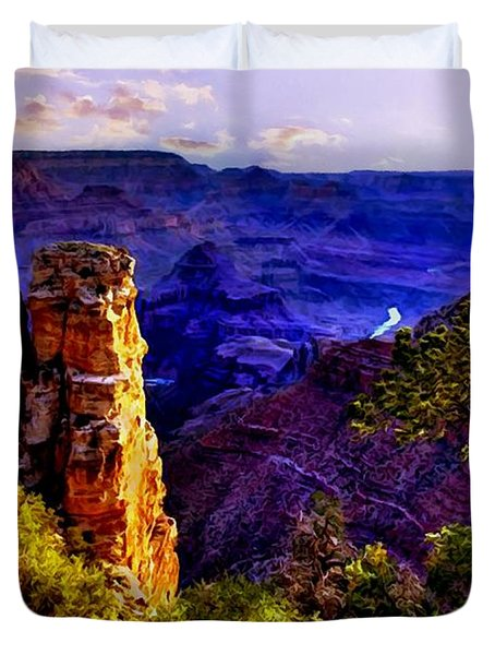 Monument To Grand Canyon  Duvet Cover by Bob and Nadine Johnston