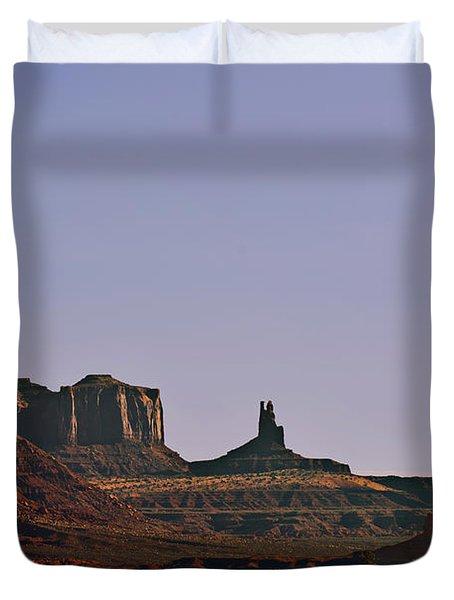 Monument Valley - An Iconic Landmark Duvet Cover by Christine Till