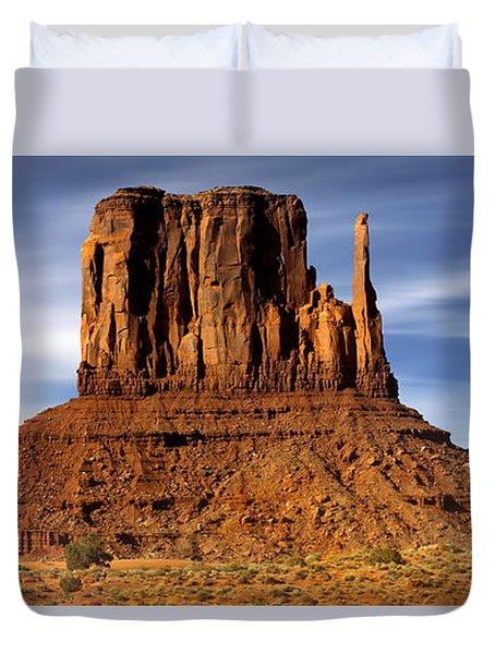 Monument Valley -  Left Mitten Duvet Cover by Mike McGlothlen