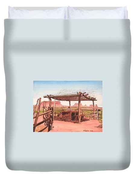 Monument Valley Overlook Duvet Cover by Mike Robles