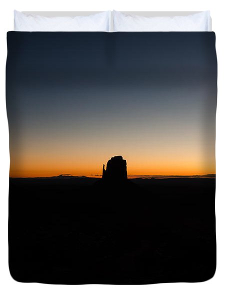 Duvet Cover featuring the photograph Monument Valley Sunrise by Jeff Kolker