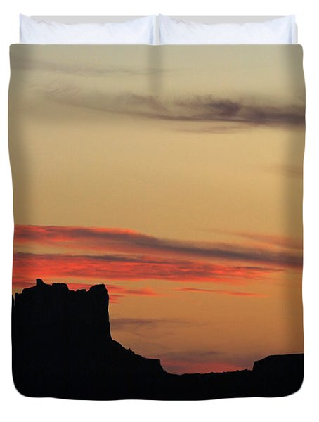 Monument Valley Sunset 1 Duvet Cover