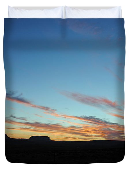 Monument Valley Sunset 2 Duvet Cover