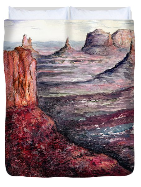Monument Valley Arizona - Landscape Art Painting Duvet Cover
