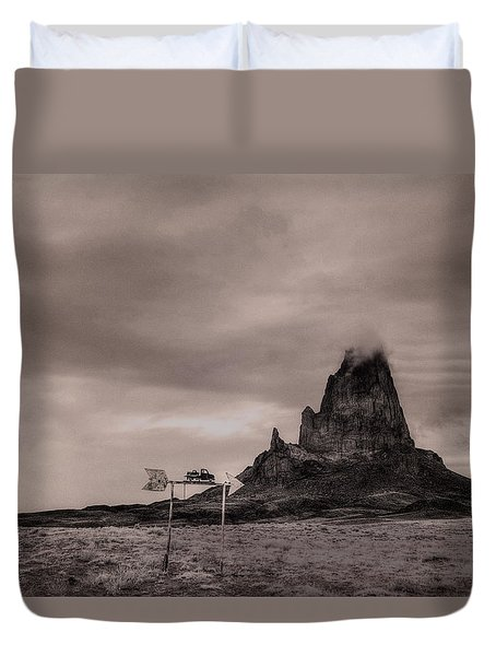 Duvet Cover featuring the photograph Monumental Towing by William Fields