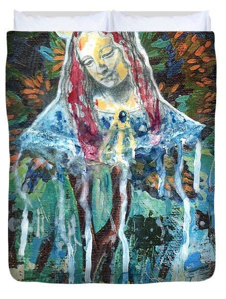 Monumental Tree Goddess Duvet Cover by Genevieve Esson