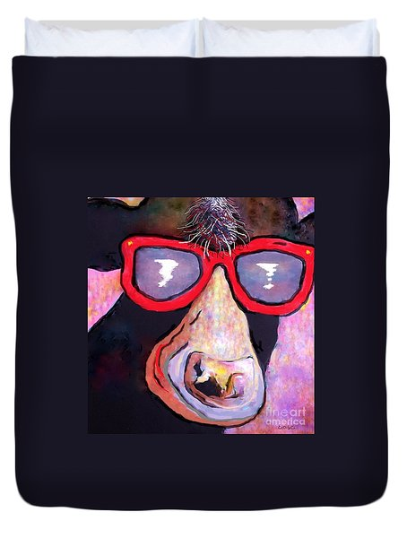 Moo-vie Star Cow Duvet Cover by Eloise Schneider