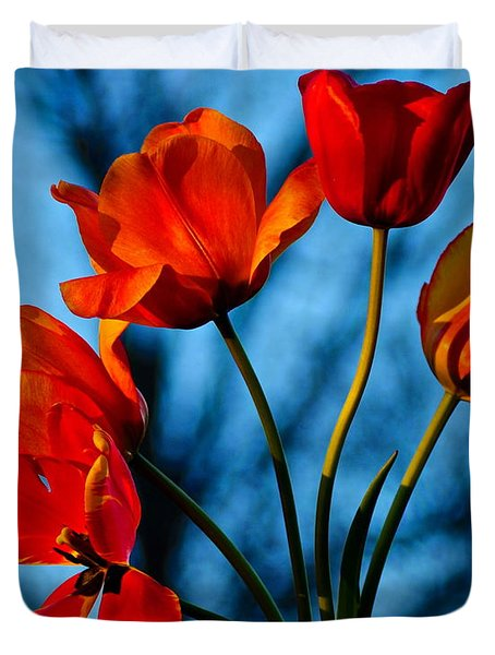Mood Bouquet Duvet Cover by Frozen in Time Fine Art Photography