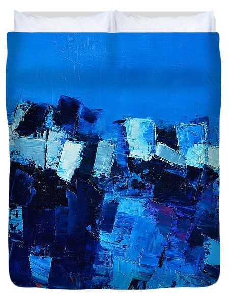 Mood In Blue Duvet Cover
