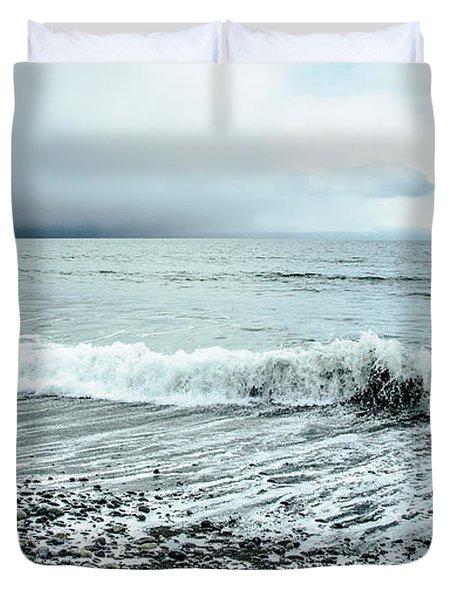Moody Shoreline French Beach Duvet Cover