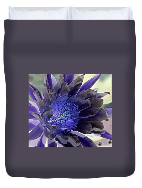 Duvet Cover featuring the photograph Moody Blues by Antonia Citrino