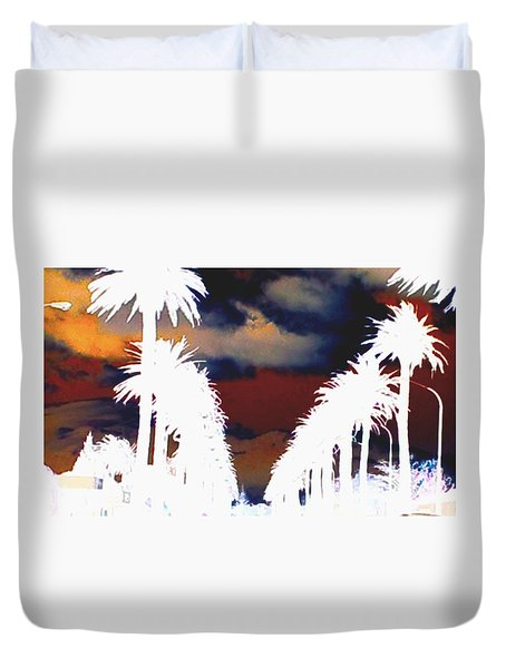 Duvet Cover featuring the photograph Moody Blues by Linda Hollis